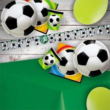 Championship Football 8 to 48 Guest Premium Party Pack - Tableware | Balloons | Decoration