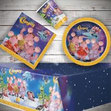Clangers 8 to 48 Guest Starter Party Pack - Tablecover | Cups | Plates | Napkins