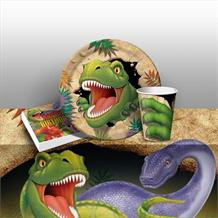 Dinosaur Blast T-Rex 8 to 48 Guest Starter Party Pack - Tablecover | Cups | Plates | Napkins