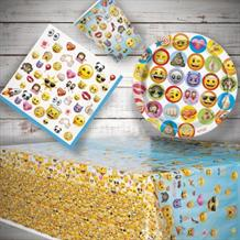 Emoji 8 to 48 Guest Starter Party Pack - Tablecover | Cups | Plates | Napkins