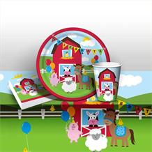 Farmhouse Fun 8 to 48 Guest Starter Party Pack - Tablecover | Cups | Plates | Napkins