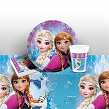 Disney Frozen Northern Lights 8 to 48 Guest Starter Party Pack - Tablecover | Cups | Plates | Napkins