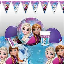 Disney Frozen Northern Lights 8 to 48 Guest Premium Party Pack - Tableware | Balloons | Decoration