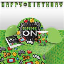 Gaming | Game On 8 to 48 Guest Premium Party Pack - Tableware | Balloons | Decoration