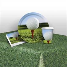 Golf 8 to 48 Guest Starter Party Pack - Tablecover | Cups | Plates | Napkins