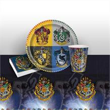 Harry Potter Party 8 to 48 Guest Starter Party Pack - Tablecover | Cups | Plates | Napkins