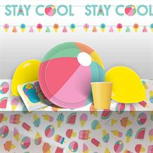 Just Chillin 8 to 48 Guest Premium Party Pack - Tableware, Balloons & Decorations