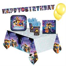Lego Movie 2 8 to 48 Guest Premium Party Pack - Tableware | Balloons | Decoration