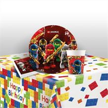 Lego Ninjago 8 to 48 Guest Starter Party Pack - Tablecover | Cups | Plates | Napkins