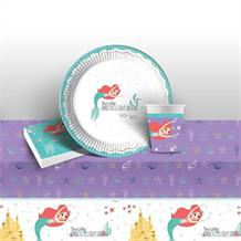 Ariel the Little Mermaid 8 to 48 Guest Starter Party Pack - Tablecover | Cups | Plates | Napkins