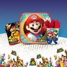 Super Mario | Luigi | Toad 8 to 48 Guest Starter Party Pack - Tablecover | Cups | Plates | Napkins