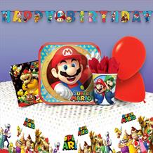 Super Mario | Luigi | Toad 8 to 48 Guest Premium Party Pack - Tableware | Balloons | Decoration