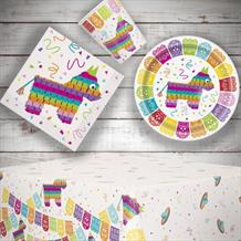 Mexican Fiesta 8 to 48 Guest Starter Party Pack - Tablecover | Cups | Plates | Napkins