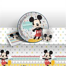 Mickey Mouse Awesome 8 to 48 Guest Starter Party Pack - Tablecover | Cups | Plates | Napkins