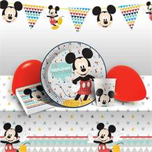 Mickey Mouse Awesome 8 to 48 Guest Premium Party Pack - Tableware | Balloons | Decoration