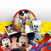 Mickey Mouse Playful 8 to 48 Guest Starter Party Pack - Tablecover | Cups | Plates | Napkins