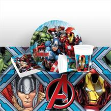 Mighty Marvel Avengers Starter Party Pack - Tablecover | Cups | Plates | Napkins