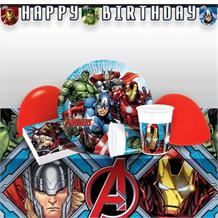 Mighty Marvel Avengers Premium Party Pack - Tableware | Balloons | Decoration