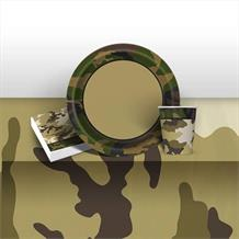 Military Camouflage 8 to 48 Guest Starter Party Pack - Tablecover | Cups | Plates | Napkins
