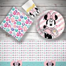 Minnie Mouse Gems 8 to 48 Guest Starter Party Pack - Tablecover | Cups | Plates | Napkins