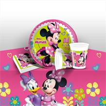 Minnie Mouse Happy Helpers Starter Party Pack - Tablecover | Cups | Plates | Napkins