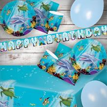 Ocean Sealife 8 to 48 Guest Premium Party Pack - Tableware | Balloons | Decoration