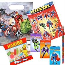 Marvel Avengers Ready Filled Party Bag with Sweets, Stickers + 2 Favours