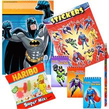 Batman Movie Ready Filled Party Bag with Sweets, Stickers + 2 Favours