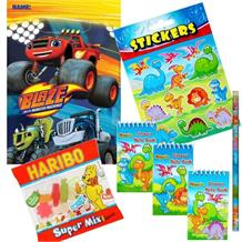 Blaze and the Monster Machines Ready Filled Party Bag with Sweets, Stickers + 2 Favours