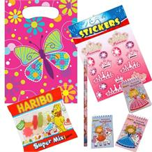 Butterfly Ready Filled Party Bag with Sweets, Stickers + 2 Favours