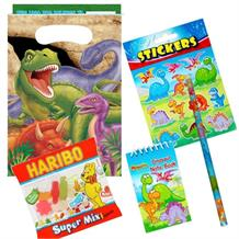 Dinosaur Blast Ready Filled Party Bag with Sweets, Stickers + 2 Favours