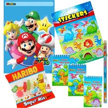 Super Mario Bros. Ready Filled Party Bag with Sweets, Stickers + 2 Favours