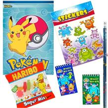 Pokemon | Pikachu Ready Filled Party Bag with Sweets, Stickers + 2 Favours