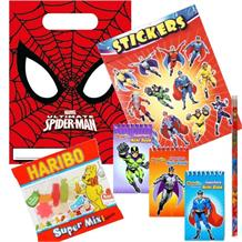 Ultimate Spiderman Ready Filled Party Bag with Sweets, Stickers + 2 Favours