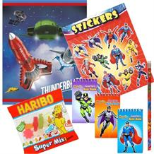Thunderbirds Ready Filled Party Bag with Sweets, Stickers + 2 Favours