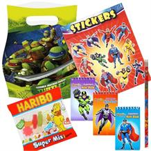 Teenage Mutant Ninja Turtles Ready Filled Party Bag with Sweets, Stickers + 2 Favours