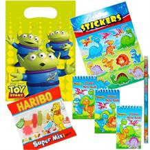 Toy Story Alien Ready Filled Party Bag with Sweets, Stickers + 2 Favours