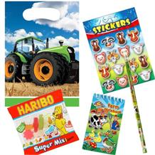 Tractor Time Ready Filled Party Bag with Sweets, Stickers + 2 Favours