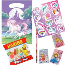 Unicorn Fantasy Ready Filled Party Bag with Sweets, Stickers + 2 Favours