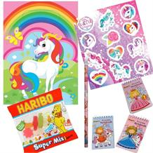 Unicorn Ready Filled Party Bag with Sweets, Stickers + 2 Favours