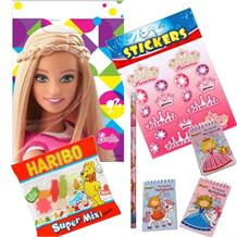 Barbie Sparkle Ready Filled Party Bag with Sweets, Stickers + 2 Favours