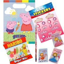 Peppa Pig Ice Cream Ready Filled Party Bag with Sweets, Stickers + 2 Favours