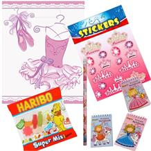 Pink Ballerina Ready Filled Party Bag with Sweets, Stickers + 2 Favours