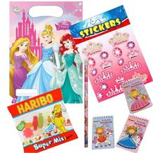 Disney Princess Ready Filled Party Bag with Sweets, Stickers + 2 Favours