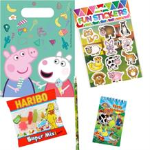 Peppa Pig Treats Ready Filled Party Favour Loot Bags with Sweets, Stickers and 2 Favours