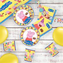 Peppa Pig Cake 8 to 48 Guest Premium Party Pack - Tableware | Balloons | Decoration