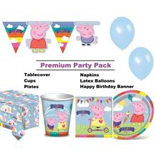 Peppa Pig Ice Cream 8 to 48 Guest Premium Party Pack - Tableware | Balloons | Decoration