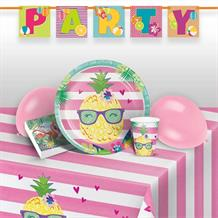 Pineapple and Friends Premium Party Pack - Tableware | Balloons | Decoration