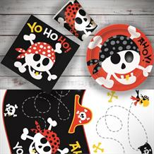 Pirate Fun 8 to 48 Guest Starter Party Pack - Tablecover | Cups | Plates | Napkins