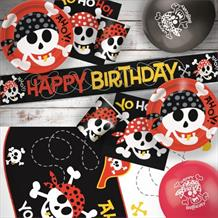 Pirate Fun 8 to 48 Guest Premium Party Pack - Tableware | Balloons | Decoration